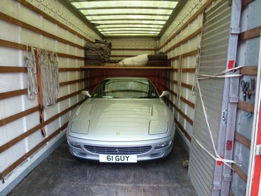 Ferrari in Truck